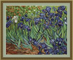 Petit Point Borduurpakket Irises, reproduction of Van Gogh - Luca-S