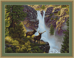 Petit Point Borduurpakket At the Waterfall - Luca-S
