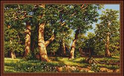 Petit Point Borduurpakket The Oak Grove, reproduction of I.I. Shishkin - Luca-S