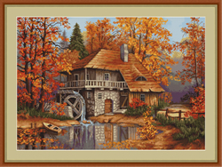 Petit Point Borduurpakket Autumn Landscape - Luca-S
