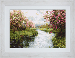 Petit Point Borduurpakket Spring Landscape - Luca-S