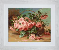 Petit Point Borduurpakket Basket of Roses - Luca-S
