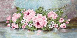 Petit Point borduurpakket The Roses - Luca-S