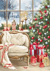 Petit Point borduurpakket Christmas Interior Design - Luca-S
