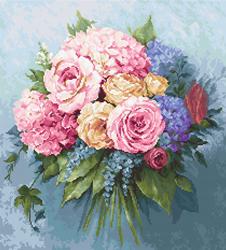 Petit Point borduurpakket Bouquet - Luca-S