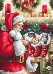 Petit Point borduurpakket Santa Claus - Luca-S