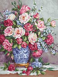 Petit Point borduurpakket Her Majesty's Roses - Luca-S