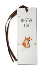 Cross Stitch Kit Bookmark Hipster Fox - Luca-S