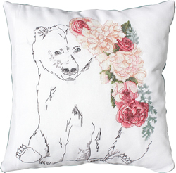 Cushion Cross Stitch Kit Bear - Luca-S