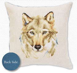 Borduurpakket Cushion The Wolf - Luca-S