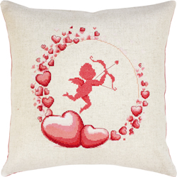 Borduurpakket Pillow Cupid - Luca-S