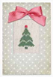 Borduurpakket Kaart Christmas Tree - Luca-S