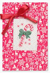 Cross Stitch Kit Postcard Christmas Candy - Luca-S