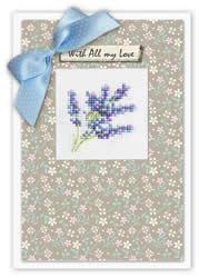 Borduurpakket Kaart Flower - Luca-S