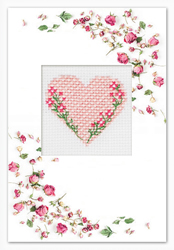 Borduurpakket Postcard Valentine's Day Heart - Luca-S