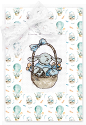 Cross stitch kit Postcard - Easter Bunny - Luca-S