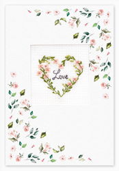 Borduurpakket Postcard - Love Flower - Luca-S