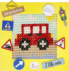 Borduurpakket My First Embroidery - Car - Luca-S