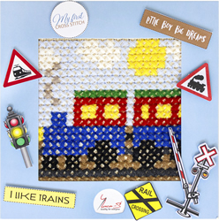 Borduurpakket My First Embroidery - Train - Luca-S