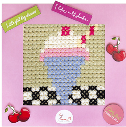 Cross stitch kit My First Embroidery - Milkshake - Luca-S