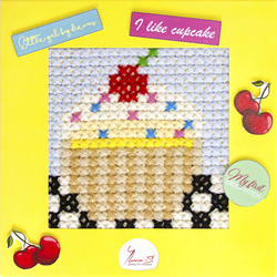 Borduurpakket My First Embroidery - Cupcake - Luca-S