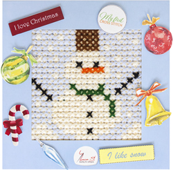Borduurpakket My First Embroidery - Snowman - Luca-S