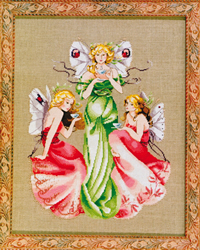 Cross Stitch Chart Three For Tea - Mirabilia Designs