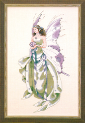 Borduurpatroon July's Amethyst Fairy - Mirabilia Designs