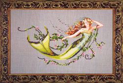 Cross Stitch Chart Emerald Mermaid - Mirabilia Designs