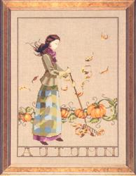 Cross Stitch Chart Autumn In My Garden - Mirabilia Designs