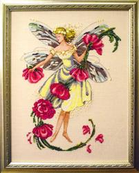 Cross Stitch Chart November Topaz Fairie - Mirabilia Designs