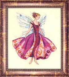 Cross Stitch Chart January's Garnet Fairy - Mirabilia Designs