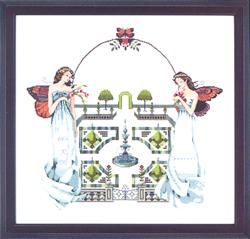 Cross Stitch Chart Spring Topiary Garden - Mirabilia Designs