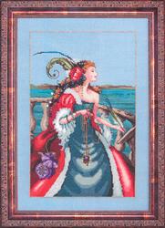 Cross Stitch Chart The Red Lady Pirate - Mirabilia Designs