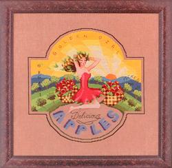 Borduurpatroon Golden Girl Apples - Mirabilia Designs
