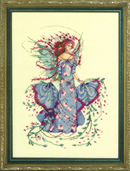Cross Stitch Chart October Opal Fairy - Mirabilia Designs