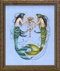 Borduurpatroon The Twin Mermaids - Mirabilia Designs