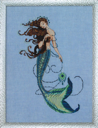 Cross stitch chart Renaissance Mermaid - Mirabilia Designs