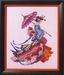 Cross stitch chart Miss Cherry Blossom - Mirabilia Designs