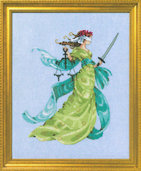 Cross stitch chart Lady Justice - Mirabilia Designs
