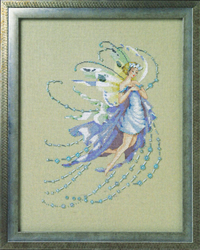 Cross stitch chart December Blue Topaz - Mirabilia Designs