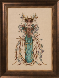 Cross stitch chart Cathedral Woods Goddess - Mirabilia Designs