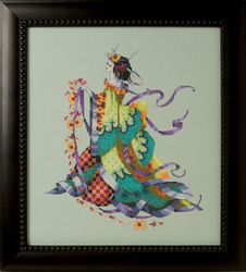 Cross stitch chart Miss Dancing Flower  - Mirabilia Designs