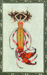 Cross Stitch Chart Petite Mermaid Collection - Siren's Song Mermaid - Mirabilia Designs