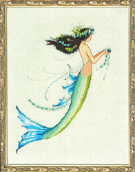 Cross Stitch Chart Petite Mermaid Collection - Mermaid Azure - Mirabilia Designs