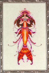 Cross Stitch Chart Petite Mermaid Collection - Ophelia's Pearls - Mirabilia Designs