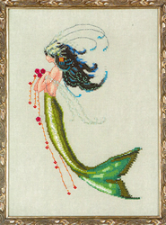 Cross Stitch Chart Petite Mermaid Collection - Mermaid Verde - Mirabilia Designs