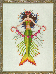 Cross Stitch Chart Petite Mermaid Collection - Coral Charms - Mirabilia Designs