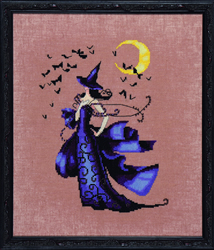 Borduurpatroon Bewitching Collection - Raven - Mirabilia Designs