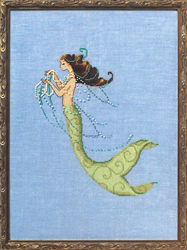 Cross Stitch Chart Petite Mermaid Collection - Tesoro Mia - Mirabilia Designs